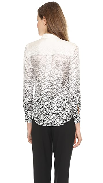 Band of Outsiders Degrade Leopard Easy Shirt