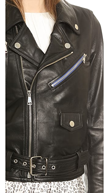 Band of Outsiders Leather Moto Jacket