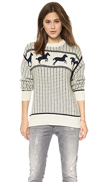 Band of Outsiders Fair Isle Horses Sweater