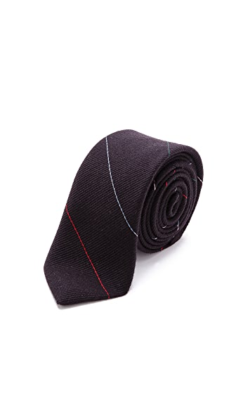 Band of Outsiders Fine Multi-Stripe Necktie