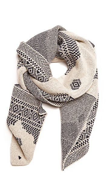 Band of Outsiders Broken Fair Isle Scarf