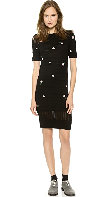 Band of Outsiders Pointelle Floral Sweater Dress
