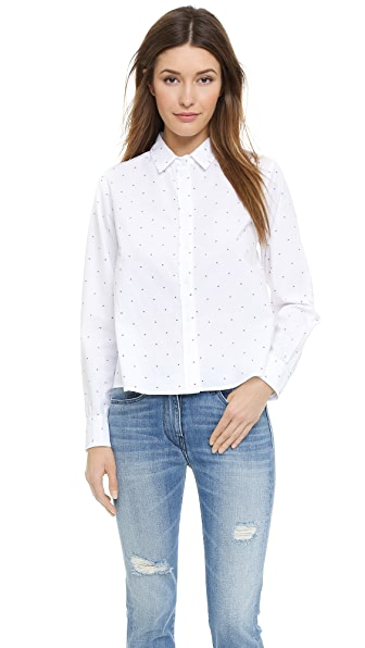 Band of Outsiders Cannes Dot Blouse