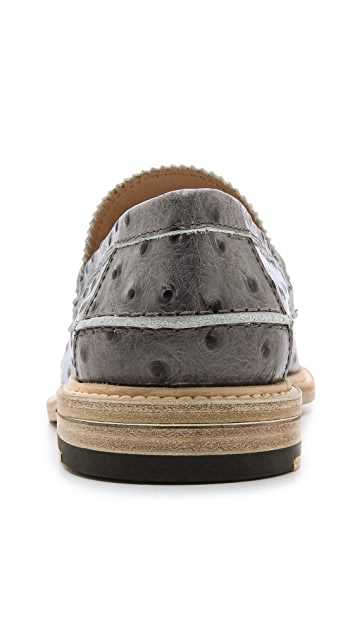 Band of Outsiders Slipped Heel Penny Loafers