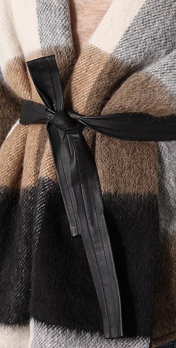 BB Dakota Talon Plaid Blanket Coat