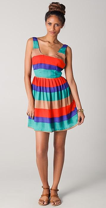 BB Dakota Covet Striped Tank Dress