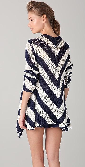 BB Dakota Gondolier Striped Cardigan Sweater