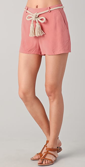 BB Dakota Cailyn Belted Shorts