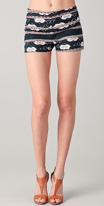 BB Dakota Reeza Moroccan Print Shorts