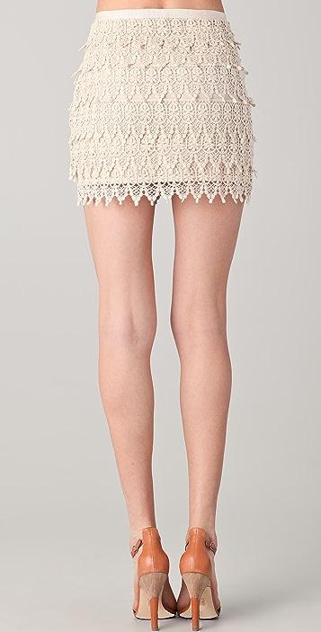 BB Dakota Macyn Lace Tiered Skirt