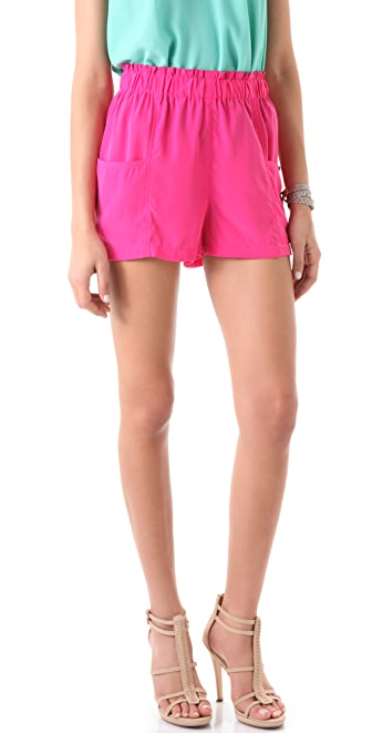 BB Dakota Chanton Draped Pocket Shorts