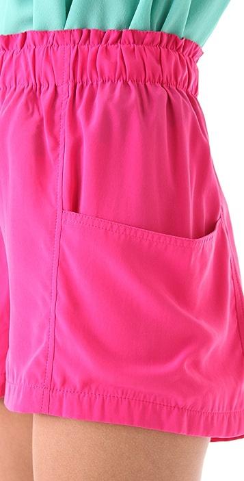 BB Dakota Chanton Draped Pocket Shorts