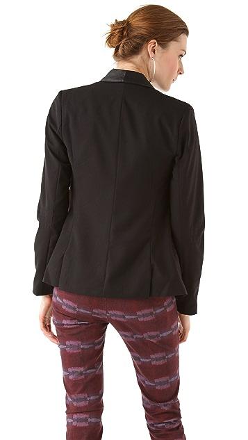 BB Dakota Zane Leather Lapel Blazer