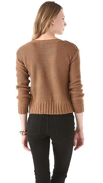 BB Dakota David Cable Knit Sweater
