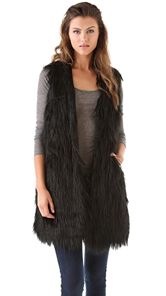 BB Dakota Roxanne Faux Fur Vest