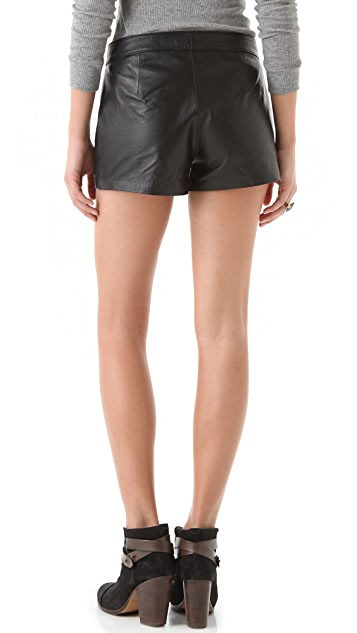 BB Dakota Bryn Leather Shorts