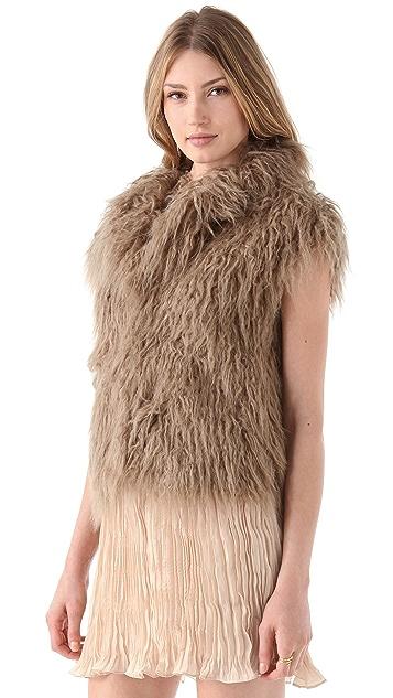 BB Dakota Mara Faux Tibetan Lamb Vest