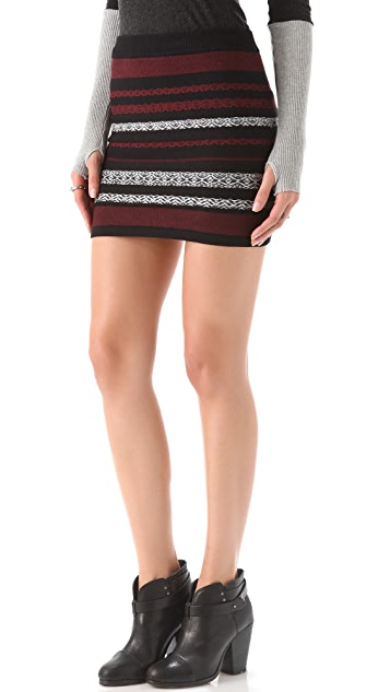 BB Dakota Tailyn Patterned Miniskirt