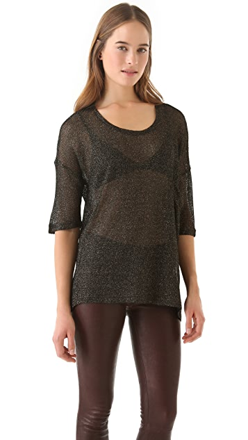 BB Dakota Tayte Metallic Knit Top