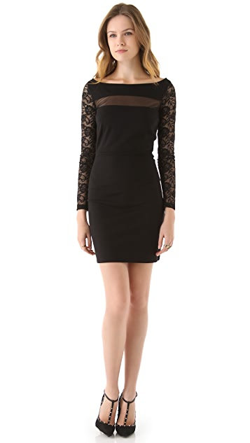 BB Dakota Mesh and Lace Dress
