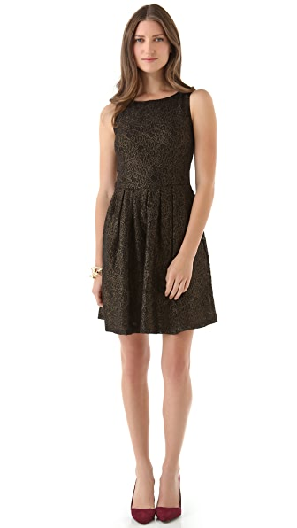 BB Dakota Nico Gold Metallic Lace Dress