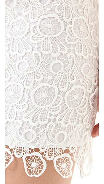 BB Dakota Morrow Lace Sheath Dress
