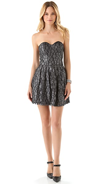 BB Dakota Delilah Metallic Lace Dress