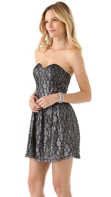 BB Dakota Delilah Metallic Lace Dress