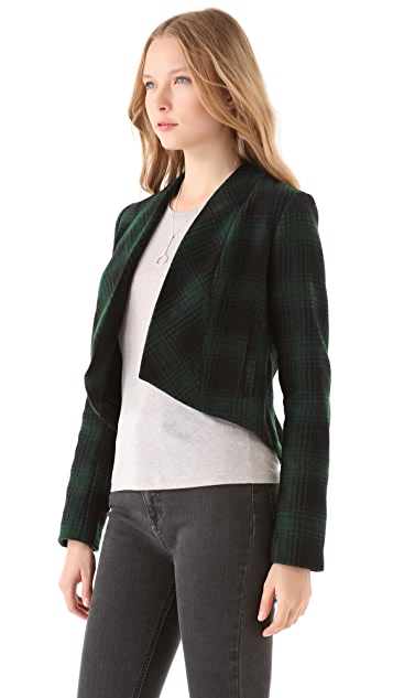 BB Dakota Jorjanna Plaid Peplum Jacket