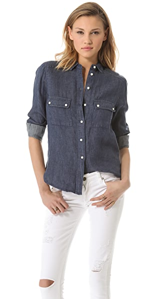 BB Dakota Natania Linen Shrunken Shirt
