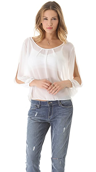 BB Dakota Nowles Slit Sleeve Top
