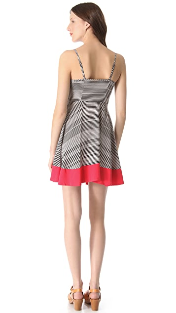 BB Dakota Nash Stripe Dot Sleeveless Dress