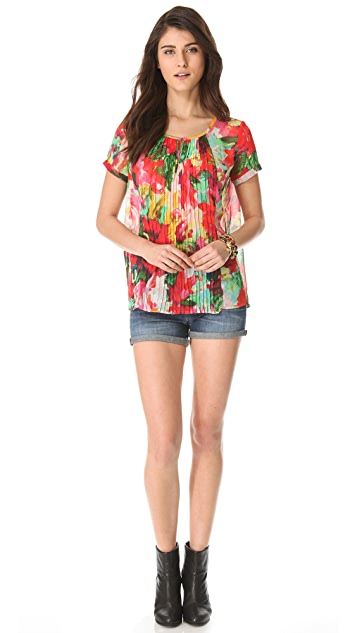 BB Dakota Warden Flourish Printed Top