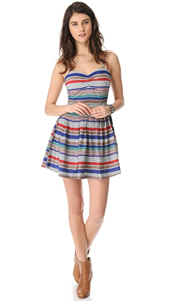 BB Dakota Bria Retro Stripe Dress