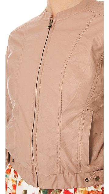BB Dakota Lenon Faux Leather Bomber Jacket