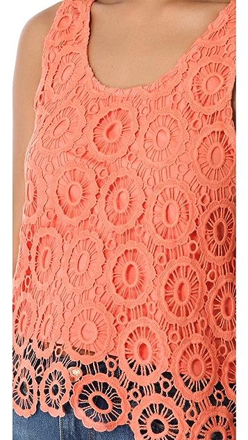 BB Dakota Covina Crochet Tank