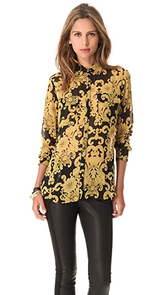 BB Dakota Edith Brocade Chiffon Blouse