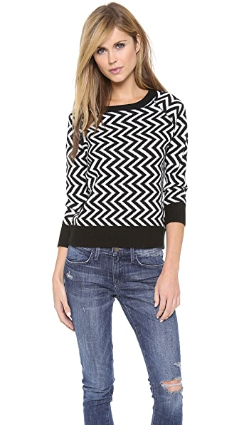 BB Dakota Emalee Zigzag Sweater