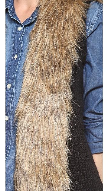 BB Dakota Perri Vest with Faux Fur Collar