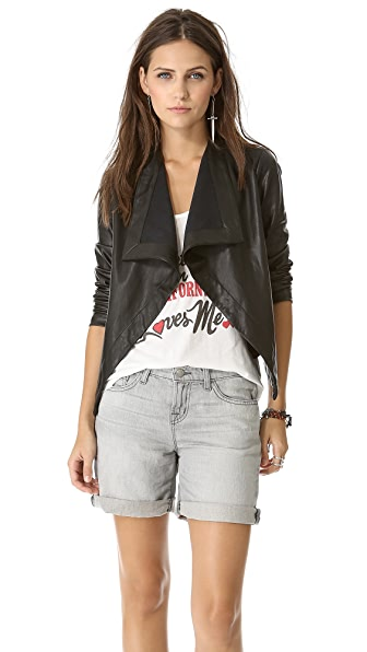 BB Dakota Jasper Drape Front Jacket