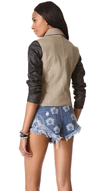 BB Dakota Kat Faux Leather Jacket