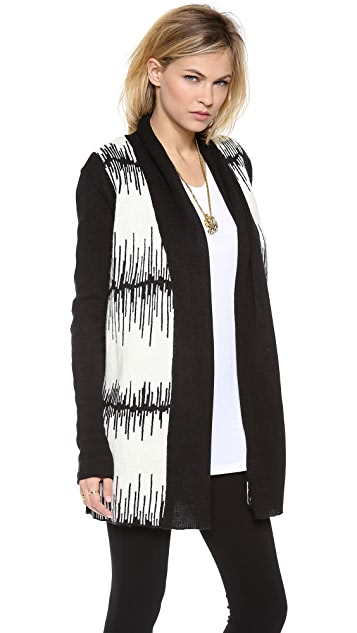BB Dakota Electricity Pattern Cardigan Sweater
