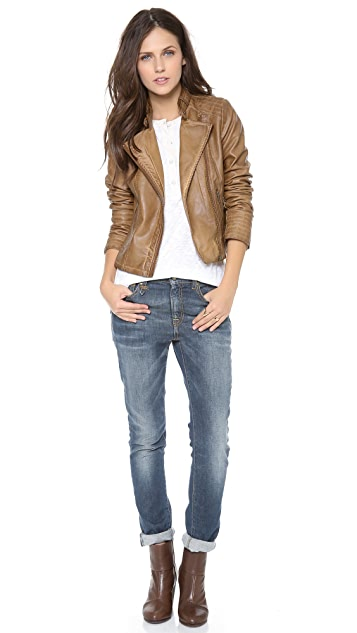 BB Dakota Stanley Faux Leather Jacket
