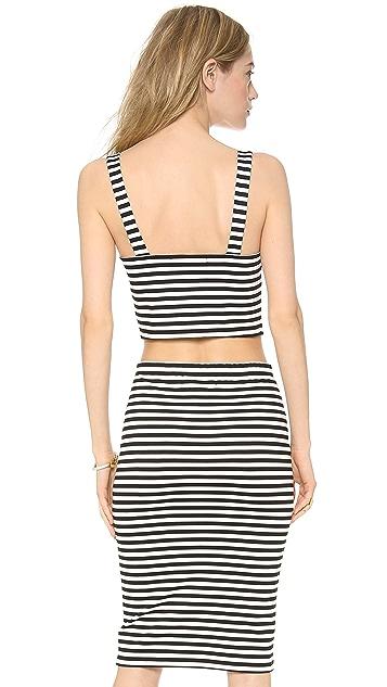 BB Dakota Lilia Striped Crop Top