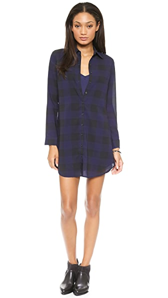 BB Dakota Keenan Plaid Shirtdress