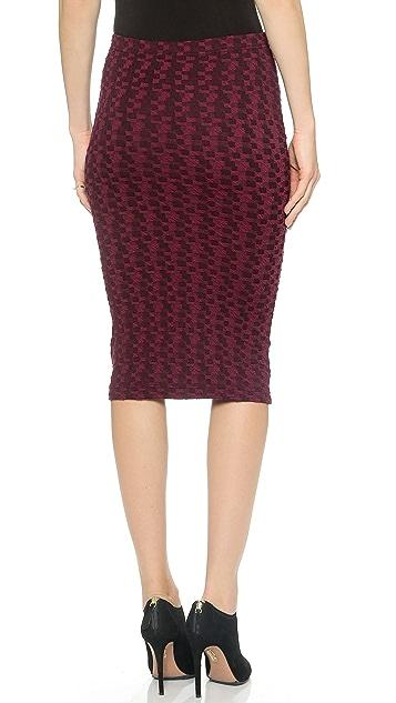 BB Dakota Jacquard Pencil Skirt
