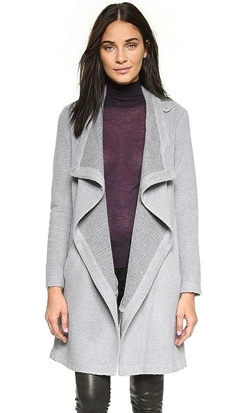 BB Dakota Grady Drape Front Coat