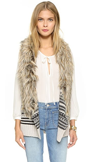BB Dakota Jase Sweater Vest with Faux Fur