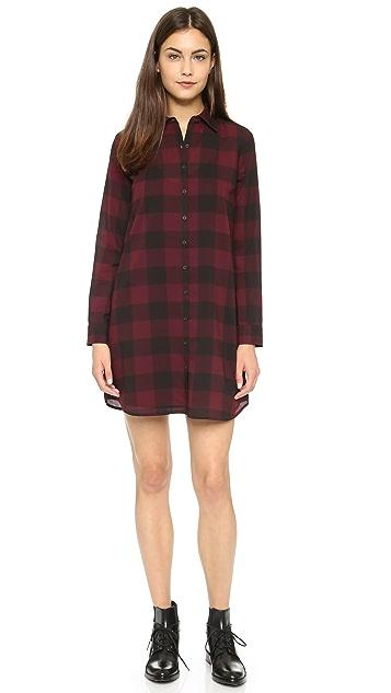 BB Dakota Cotter Buffalo Plaid Dress