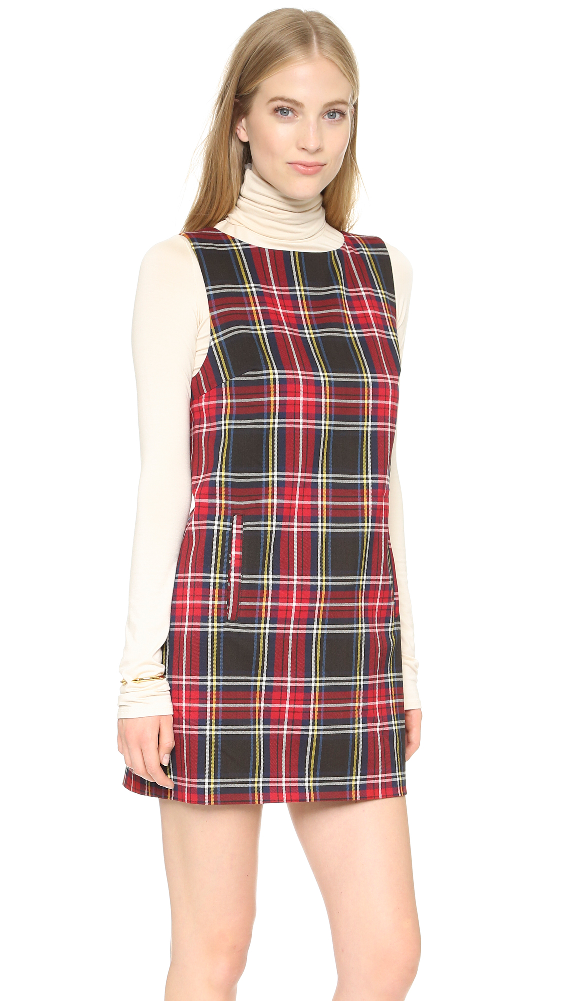 6aa3059f293 BB Dakota Harlow Tartan Plaid Shift Dress